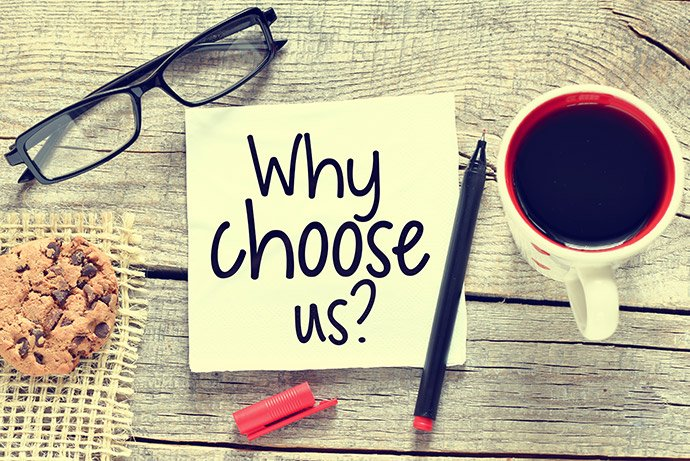 Why Choose Us feature